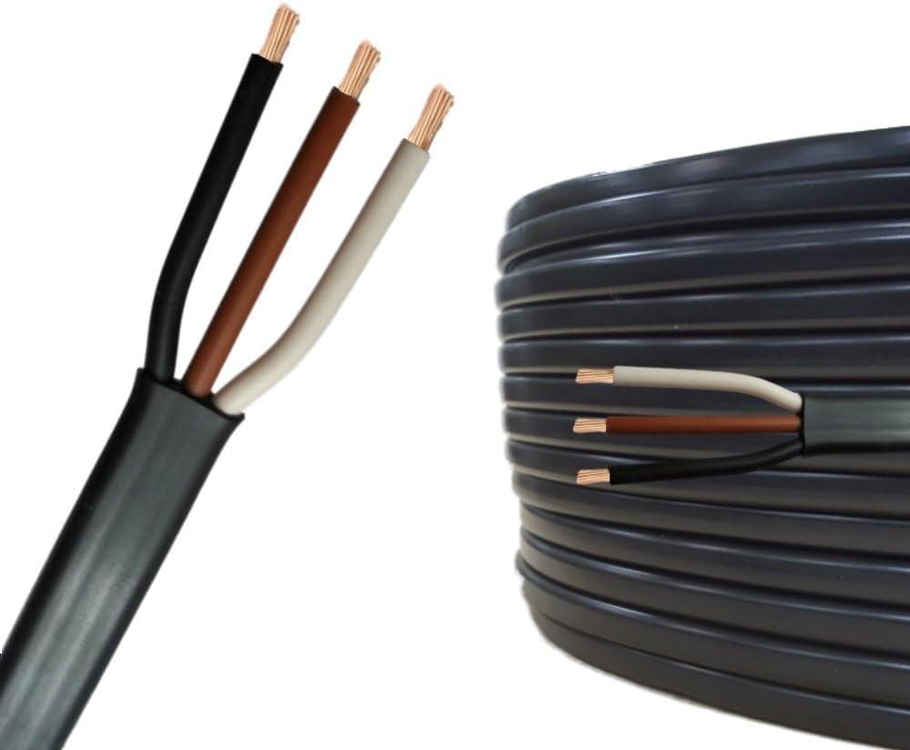 20m ou 50m choix: 20m m/ètre, 3 fils: 3 x 1.0 mm/² c/âble m/éplat 10m C/âble multiconducteur pour lautomobile//remorque 5m