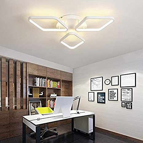 Buy Zorbes Modern Nature White LED Acrylic Flush Mount Ceiling Light For Living Kitchen Kids Bedrooms Dining Room Online At Low Prices In India
