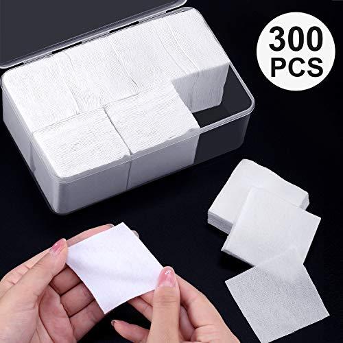 [해외]Norme 플란넬 클리닝 패치 면 플란넬 패치 투명 박스 포함 / Norme Flannel Cleaning Patches Cotton Flannel Patches in Clear Box (5.7 cm,300 Packs