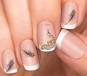 Amazon Peacock And Feather Nail Art Decals Beauty