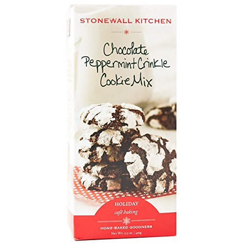 Stonewall Kitchen Cookie Mix, Chocolate Peppermint Crinkle, 17.5 Ounce