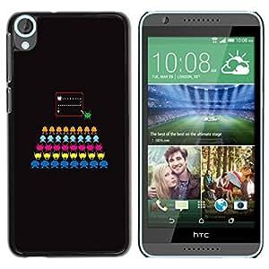 Slim Design Hard PC/Aluminum Shell Case Cover for HTC Desire 820 Computer Game Colorful Black / JUSTGO PHONE PROTECTOR
