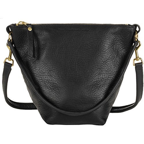Wood and Faulk Field Bag Purse - Women's Black Leather, One Size by Wood and Faulk