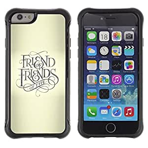 Suave TPU GEL Carcasa Funda Silicona Blando Estuche Caso de protección (para) Apple Iphone 6 / CECELL Phone case / / Friend Keep God Cross Beige Text /