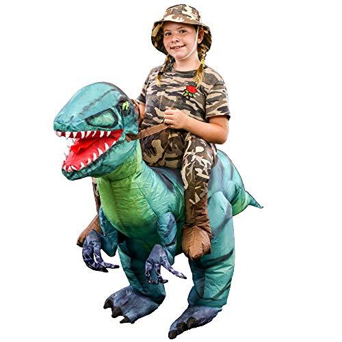 Halloween Haunters Inflatable Dinosaur Rider Costume Suit