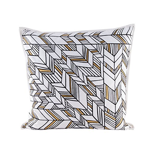 Golden Arrows pillow With Goose Down Insert by AR Lighting