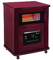 Comfort Zone CZ2032C Infrared Quartz Wood Cabinet Heater, 16, Cherry