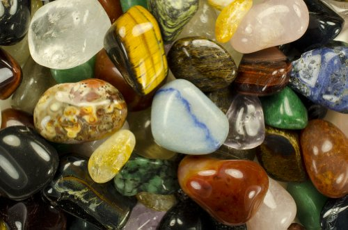 Hypnotic Gems Materials: 1 lb Superior Tumbled Brazilian Stone Mix (BEST QUALITY) - 25 Stone Types in Every Bag - Polished Natural Gemstone Supplies for Wicca, Reiki, and Energy Crystal Healing by Hypnotic Gems