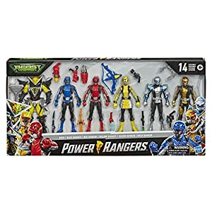 Best Epic Trends 51c80e2UtVL._SS300_ Power Rangers Beast Morphers 6 Inch Action Figure Multipack 6 Figures Included Power Rangers and Villain Toys with…