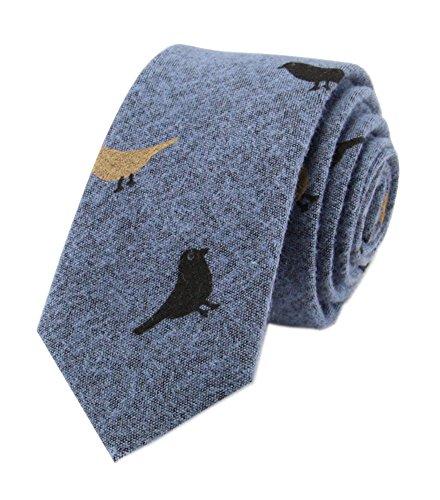 Mens Blue Designer Ties Formal Cotton Unique Dress BEST Valentine's Day Necktie