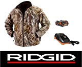 Ridgid 18 Volt Camouflage Heated Jacket Coat with Battery & Charger (XL)