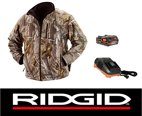 Ridgid 18 Volt Camouflage Heated Jacket Coat with Battery & Charger (XL) by Ridgid