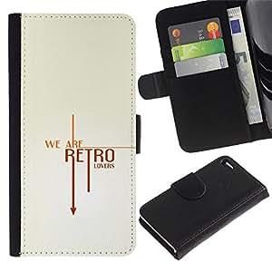 LASTONE PHONE CASE / Lujo Billetera de Cuero Caso del tirón Titular de la tarjeta Flip Carcasa Funda para Apple Iphone 4 / 4S / Retro Vintage Text Cool Clean White