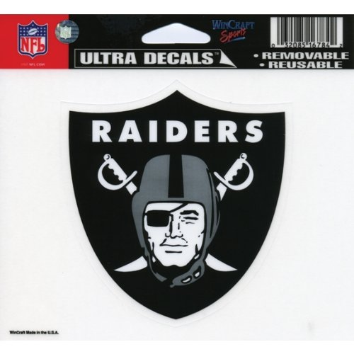 (WinCraft NFL Oakland Raiders 16784031 Multi-Use Colored Decal, 5