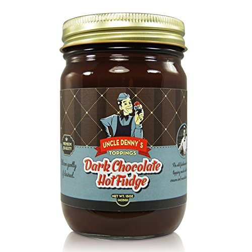 Hot Fudge Ice Cream Topping - Uncle Denny's Dark Chocolate Hot Fudge Gourmet Ice Cream Topping by Pioneer Valley