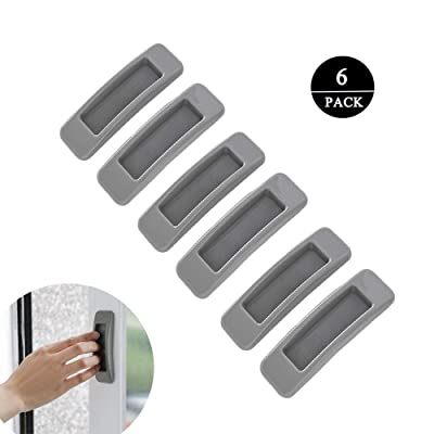 Meixinggu 6pcs Multipurpose Self-Stick Instant Cabinet Drawer Handle Helper Door Window Handle Sticker for Kitchen Bathroom Cupboards Drawers Dressers Cabinets (Grey): Home & Kitchen