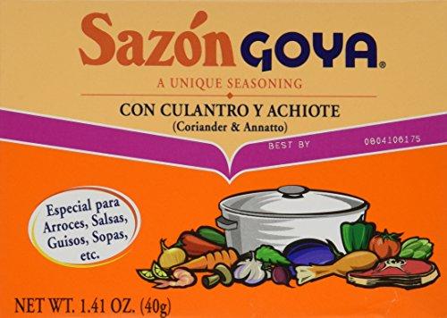 Sazon Goya Con Culantro y Achiote 1.41oz (Pack of (Goya Seasoning)