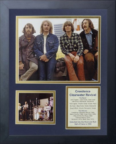 "Legenden Sterben Nie gerahmtes Foto Collage, 11 x 35,6 cm ""Creedence Clearwater Revival von Legends Never Die"