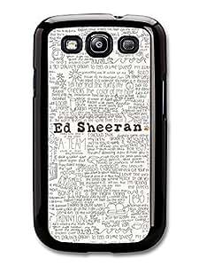 AMAF ? Accessories Ed Sheeran Songs Lyrics case for Samsung Galaxy S3