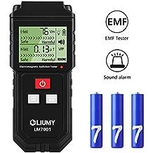 Electromagnetic Field Radiation Detector/EMF Meter, LIUMY Handheld Mini EMF Detector Digital LCD Radiation Meter/Sound and Light Alarm (Batteries Included)