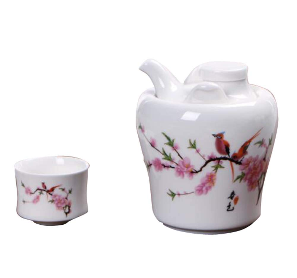 DRAGON SONIC Warm Wine Pot Set, Ceramic Sake Set, Wine Separator, E06