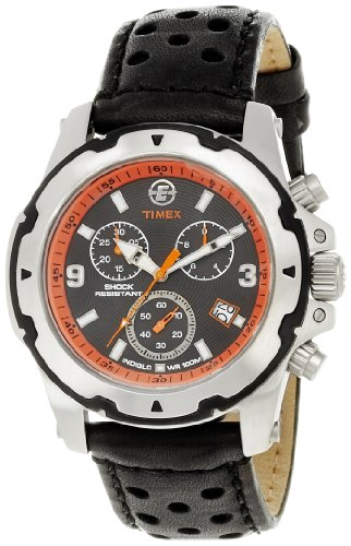 Timex Men's T497829J Expedition Rugged Field Chronograph Silver-Tone Black Face Watch