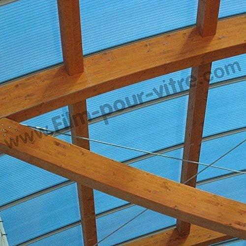 Dimexact Película Anti Calor para Veranda y Cubierta de Piscina de Plexiglás y Policarbonato, Blanco, Anchura 1,52 m, en Rollo: Amazon.es: Hogar