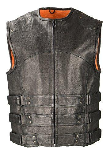 Biker Access-Men's Updated SWAT Style Biker Vest-BLACK-4X