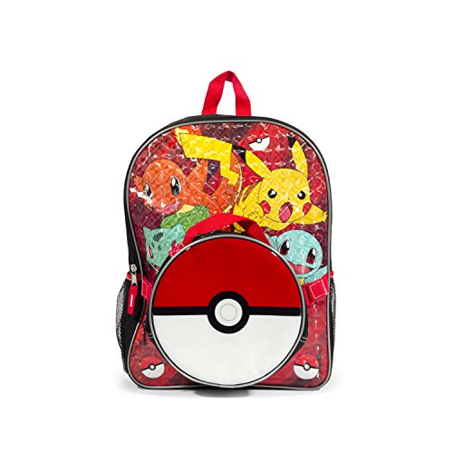 Price comparison product image Pokemon Red Scare Again Backpack with Insulated Pokeball Lunch Kit