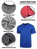 5 Pack Men's Active Quick Dry Crew Neck T Shirts