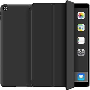 KenKe iPad 9.7 Case 2018 iPad 6th Generation Case / 2017 iPad 5th Generation Case,Ultra Slim Lightweight Smart Cover TPU Soft Auto Sleep/Wake 9.7 inch iPad 5th/6th Gen A1822,A1823,A1893,A1954-Black