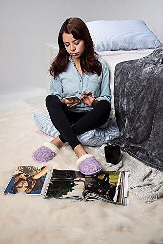 Chambre À Coucher Maison Confortable Tisserand Tricot Texture Pantoufles Slip-on Violet