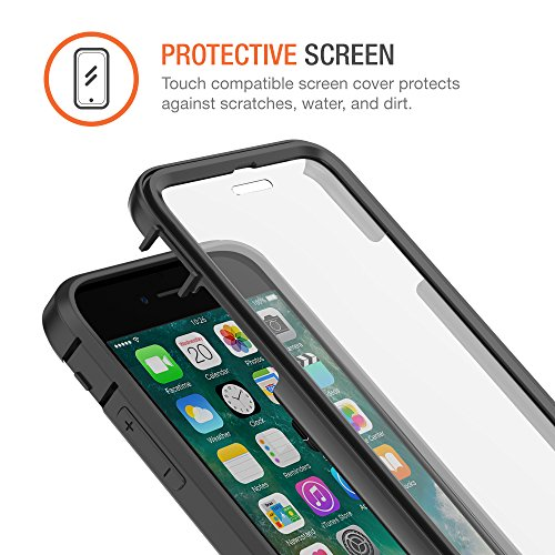 Trianium iPhone 7 Case [Duranium Series] Heavy Duty Ultra Protective Hard Cover Shock Absorption w/ Built-in Screen Protector+ Holster Belt Clip Kickstand for Apple iPhone 7 2016 -Gunmetal (TM000181) by Trianium (Image #5)