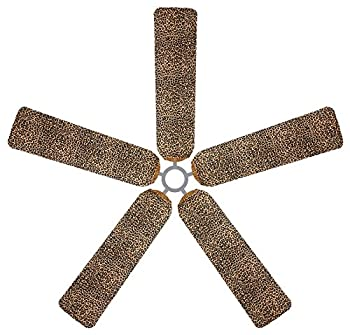 Fan Blade Designs DP-ME4I-7NZS Ceiling Fan Blade Covers, Leopard
