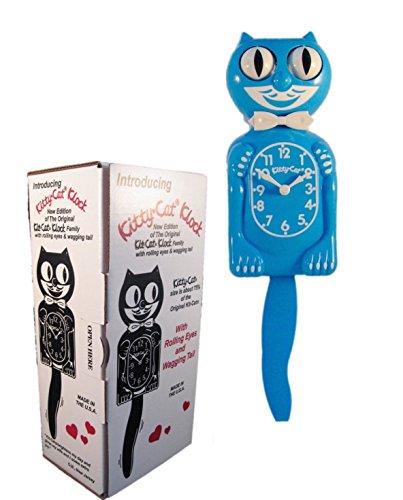 New Classic Vintage Kitty-cat Klock Scuba Blue 12 ¾