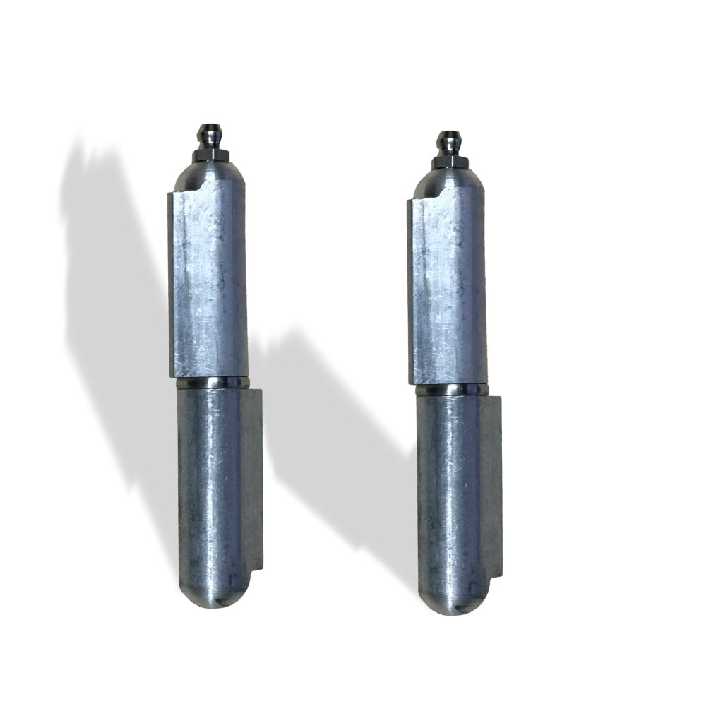 Aluminum weld on Bullet Hinge Stainless Steel Bushing & Pin with Grease 4'' Pair