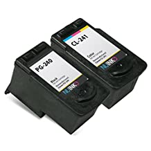 NUINKO 2 Pack Remanufactured Canon PG-240 Ink Cartridge Black Canon CL-241 Ink Cartridge Color for Canon PIXMA MG3220 PIXMA MG3520 PIXMA MX452 PIXMA MG2220 PIXMA MG3222 PIXMA MX472 PIXMA MG2120 PIXMA MX522 PIXMA MX459 PIXMA MG3522 PIXMA MX432 PIXMA MX512 PIXMA MG3122 PIXMA MX392 PIXMA MG4220 PIXMA MG3120 PIXMA MX532 PIXMA MX479 Inkjet Printers