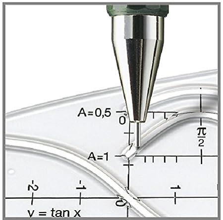 trazo 0.3 mm color verde Portaminas TK-Fine con goma de borrar y 3 minas finas Faber Castell B-136300 graduaci/ón HB