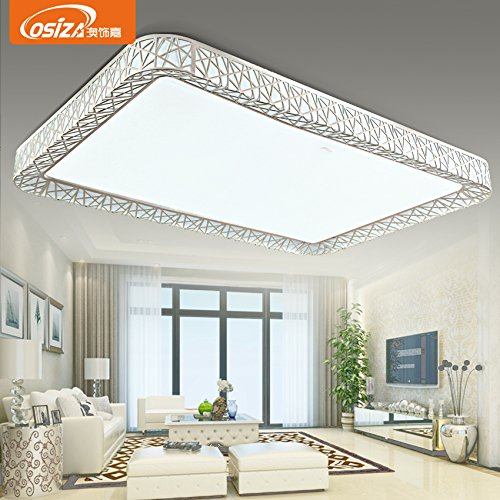 BLYC- Moderne LED Leuchte Nest Idee atmosphärische rechteckigen Wohnzimmer Lampe Eisen Lampe Restaurant Romantisches Schlafzimmer Deckenlampe 900 * 630mm