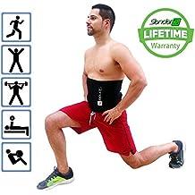 Slender 8 Waist Trimmer Slimmer Belt - LARGE EDITION - For Men and Women - Lower Back Support - Improve Fitness - Boost Workout Benefits - Target Abdominal - Weight Loss