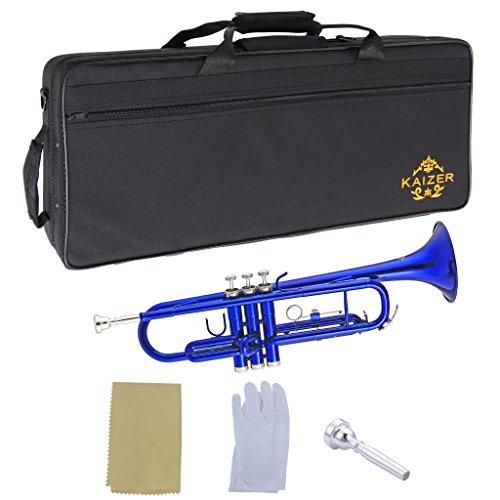 Kaizer Trumpet Bb B Flat Blue TRP-1000BL by Kaizer