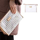Makeup Bag,Fashion Stripes Cosmetics Bag/Toiletry Storage Pouch,Portable Carry on Travel Hand Pouch Organizer with Zipper,Waterproof Clear Transparent PVC Purse for Women