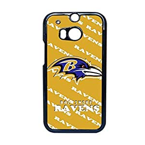 Generic Hard Phone Cases For Women Printing With Nfl Baltimore Ravens For Htc One M8 Choose Design 3
