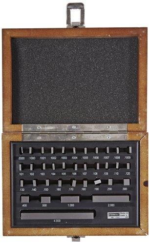 Fowler 53-670-038 Steel Rectangular Gage Block Set, 36 Piece, ø Grade