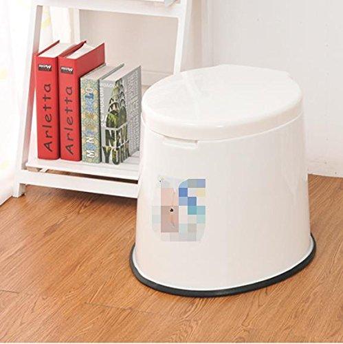 GDS  Tragbare Toilette Mobil WC Sitz für ältere Frauen Slip eine einfache Toilette Patienten Kunststoff WC , Weiß