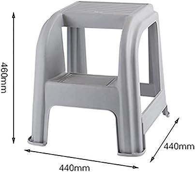 Plástico Paso Taburete 2 3 Pasos Escalera Peso Ligero Portátil Antideslizante Multifunción Escalera Para El Hogar Cocina Oficina-grisa: Amazon.es: Bricolaje y herramientas