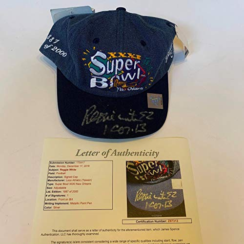 (Rare Reggie White Signed 1996 Green Bay Packers Super Bowl XXXI Hat Cap COA - JSA Certified - Autographed NFL Hats)