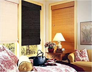 White Bamboo Wood Wooden Roman Blind Blinds 150cm X