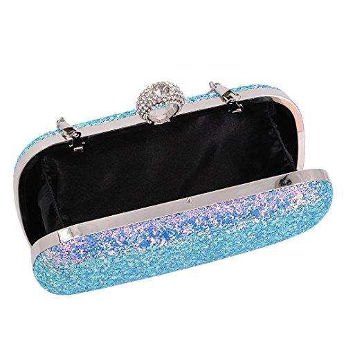 Handbag Party Hard Style Evening Bag Case Rhinestone Naimo Purse 1 Womens Clutch Colorful Pearl wq611P