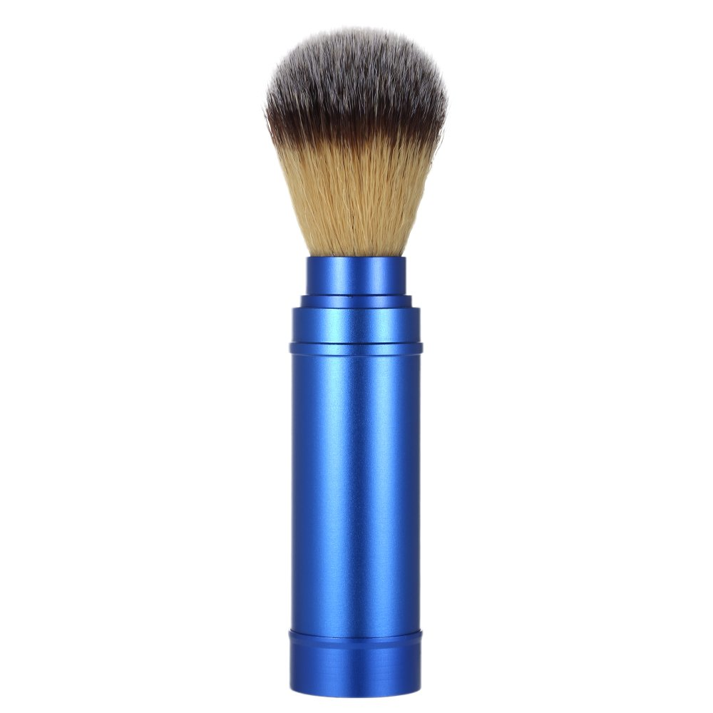 Anself Pure Badger Shaving Brush Removable Blaireau Beard Cleaning Brush Aluminum Handle